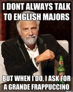English major memes rock